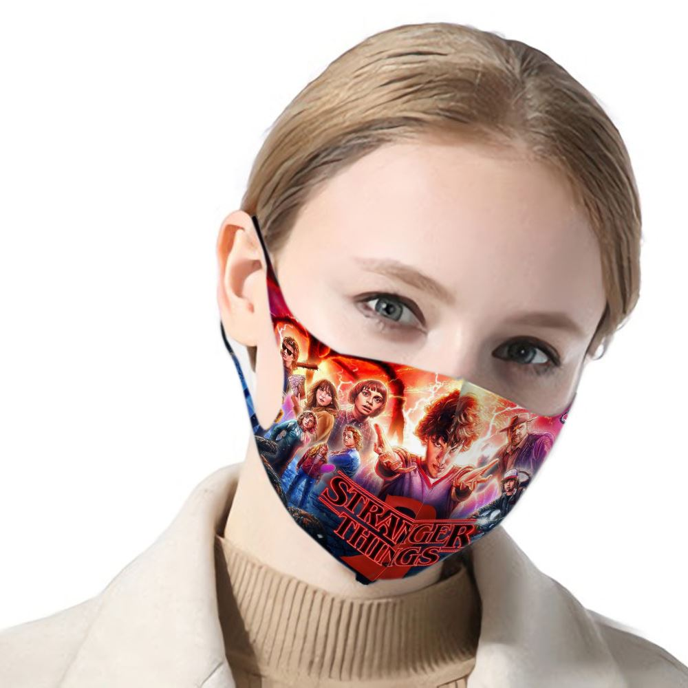 3d Print Stranger Things Filter Dust Mask Stranger Things Figure Female/male Mask Filter Air Mask Hip Hop Female/male