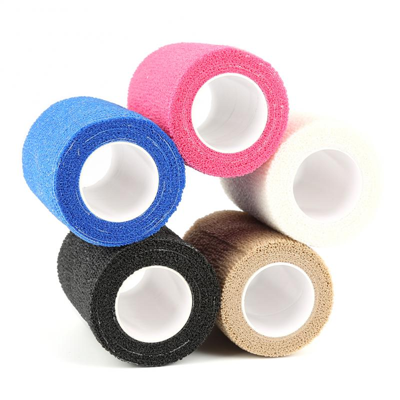 7.5cmX5m Self-Adhesive Elastic Bandage First Aid Kit Home Medical Tape Security Protection Emergency Sports Body Gauze 5 Colors