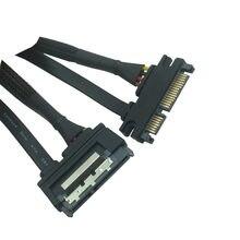 Sata Extension Cable SATA 22 Pin Male To Female SATA 3 III 22 Pin Male to Female 7+15 Pin SATA Data Power Combo 0.3M 0.5M