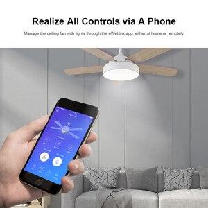 Image 3 - SONOFF IFAN03/RM433 Wifi Smart Decke Fan Dimmer Schalter Lüfter mit Led Licht Geschwindigkeit Fernbedienung 433mhz Arbeit mit Google Hause