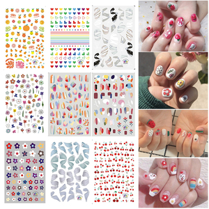 15 Mixed Nail Stickers Nail Art Nail Stickers Fruit flowers pattern Water Transfer Decals Sliders Manicures Decoration Stickers