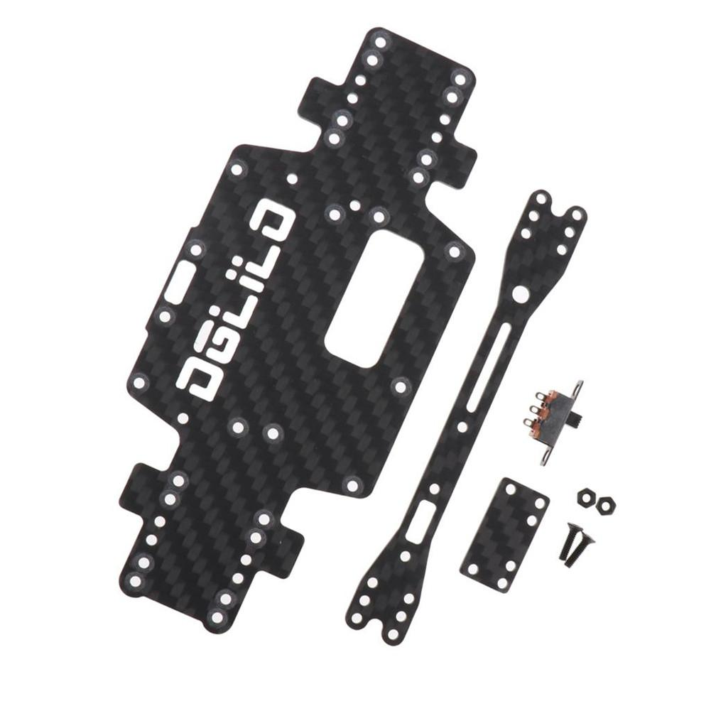 Wltoys K969 K979 K989 K999 P929 P939 1:28 <font><b>RC</b></font> <font><b>Car</b></font> Spare <font><b>Parts</b></font> Upgraded Carbon Fiber Chassis <font><b>Car</b></font> Bottom Low Body Shell image