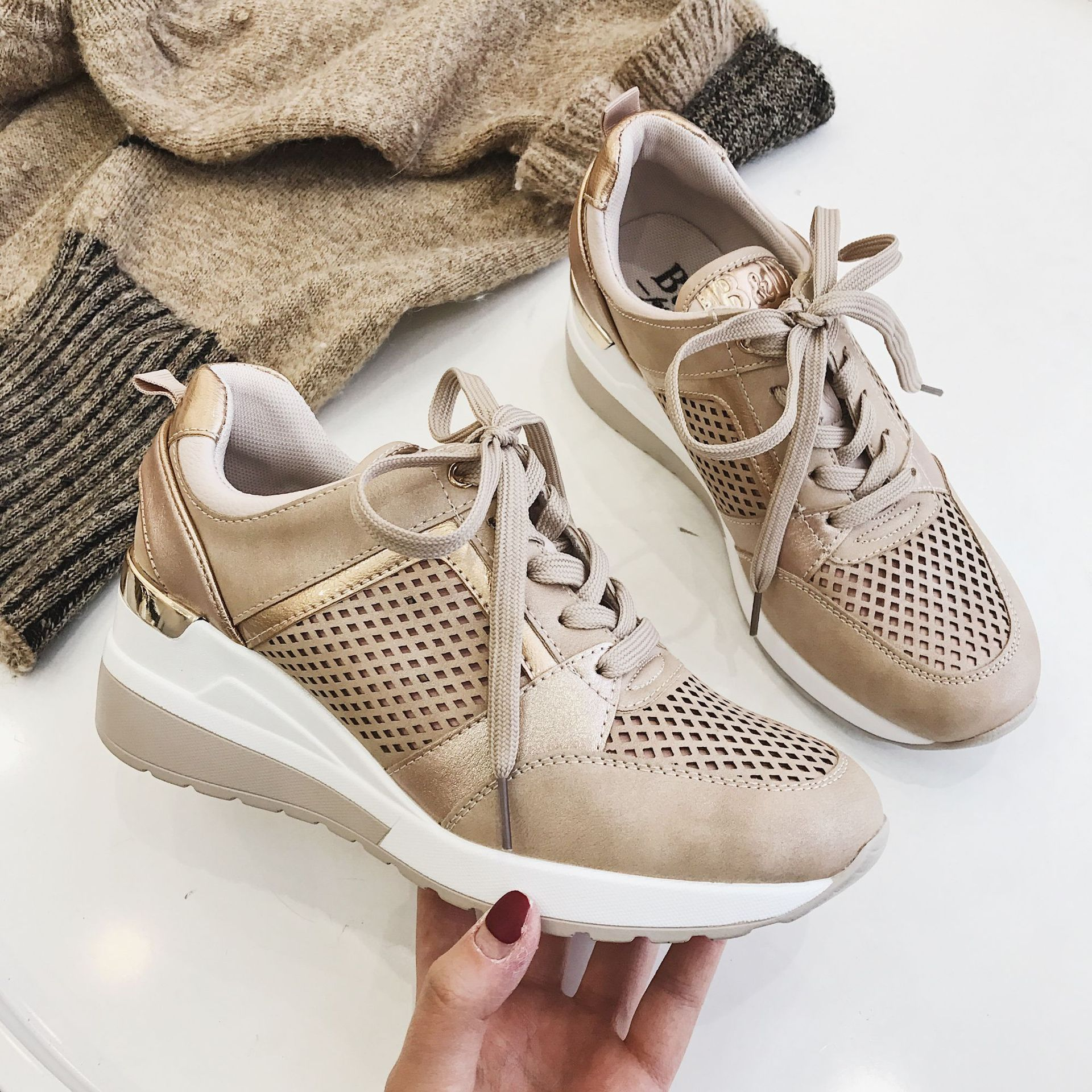 2020 Wedge Sneakers Brand Design Autumn Winter Elegant Women Shoes Platform Fashion Woman New Casual Style
