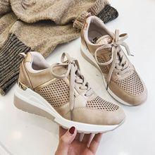 2020 Wedge Sneakers Brand Design Herfst Winter Elegante Vrouwen Schoenen Platform Mode Vrouw Nieuwe Casual Stijl
