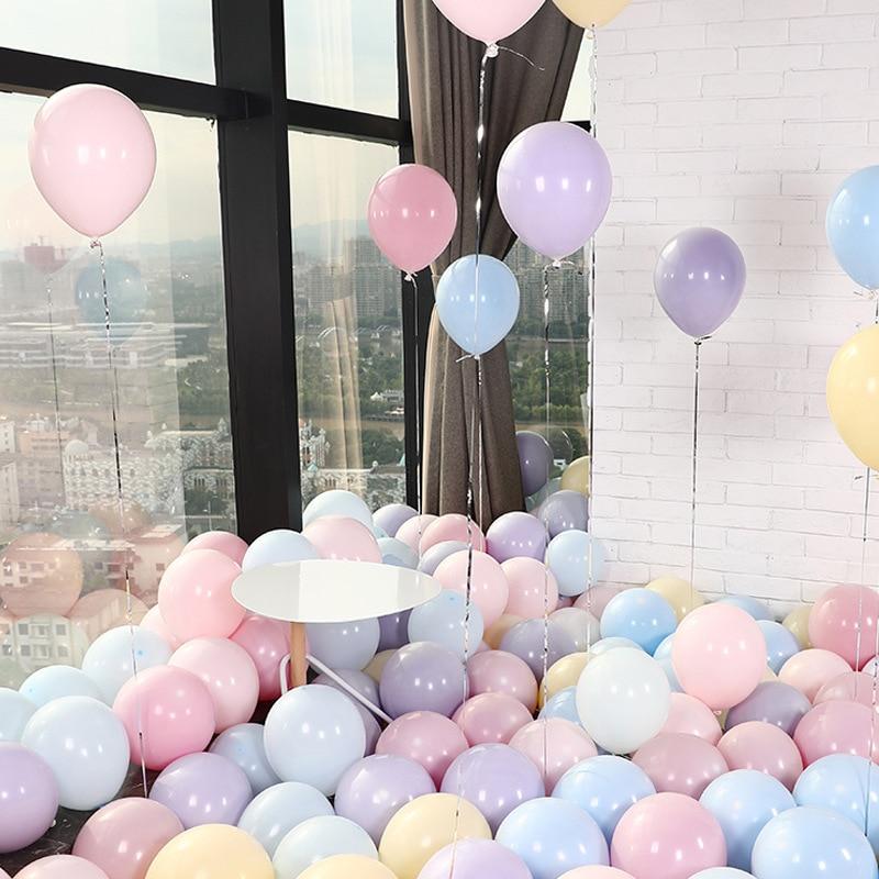 5pcs 10 inch Thicken Macaron balloons birthday Wedding Party Round Helium Macaron Balloon Decoration birthday balloons in Ballons Accessories from Home Garden
