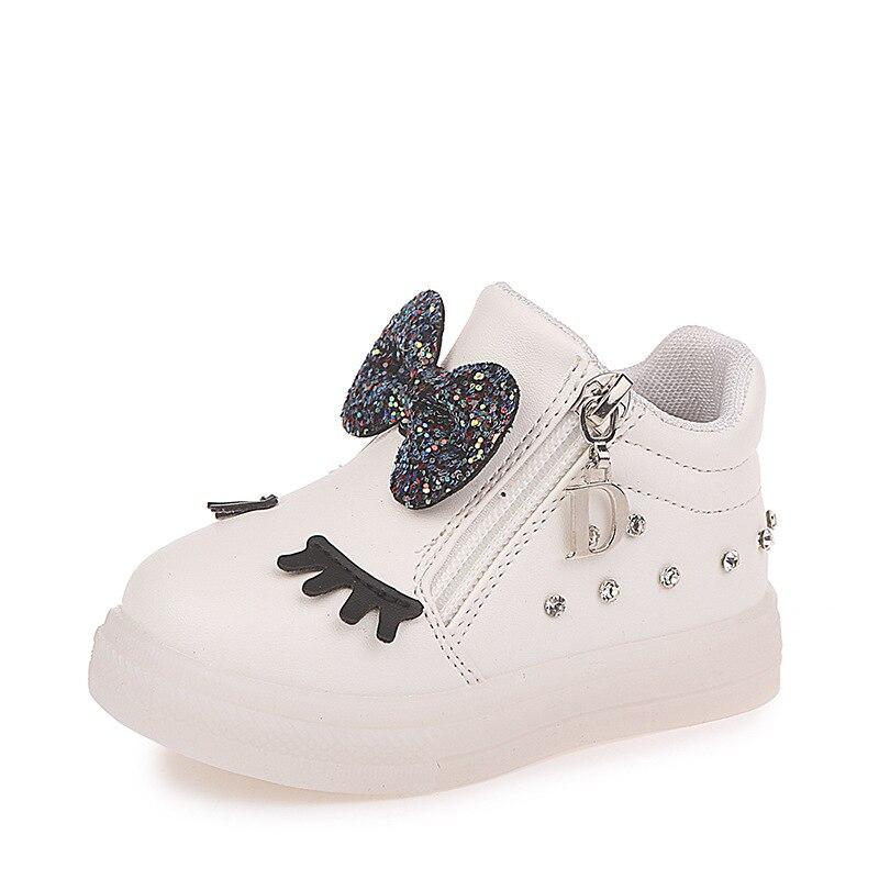 Glowing Shoes Sneakers Girls Autumn Baby Princess Kids Children Red Cute Eu-Size Hot-Sale