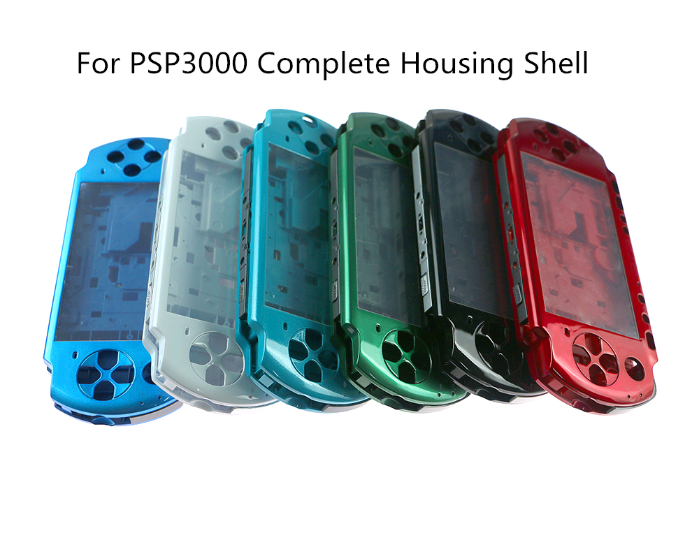 High quality For PSP3000 <font><b>PSP</b></font> 3000 3001 <font><b>3004</b></font> Old Version Game Console <font><b>Shell</b></font> Replacement Full Housing Cover Case with Buttons Kit image