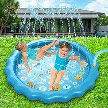 66'' 3-in-1 Kids' Sprinkler Pad For Kids Summer Fun Sport Outdoor Water Toy Lawn Inflatable Pool Toys Splash Play Mats Pool