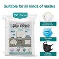 100 шт. одноразовые фильтры для детей и взрослых Маска для лица респиратор PM25 подходит для N95 KN95 KF94 ffp3 2 1 защитные маски