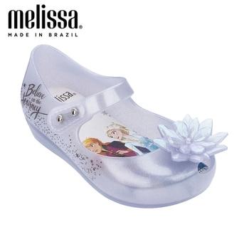 2020 Bow Mini Melissa Ultragirl + Snow Princess Girl Jelly Shoes Sandals Bow Melissa Sandals For Kids Non-slip Summer Girl Shoes melissa girls sandals big bow parent child shoes women jelly sandals 2019 new women melissa sandals melissa jelly shoes non slip
