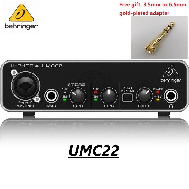 Behringer umc22 e focusrite scarlett solo 3rd geração microfone amplificador placa de som interface áudio gravação placa de som