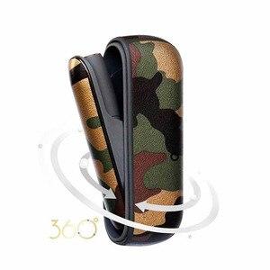Image 5 - 4 renk kamuflaj deri kılıf iqos 3.0 kılıfı ve yan kapak tutucu kutusu iqos 3 duo koruyucu kabuk aksesuarları