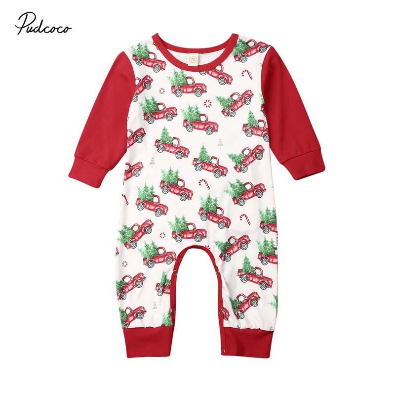 Xmas Newborn Infant Baby Boy Girl Floral Bodysuit Romper Jumpsuit Outfit Clothes