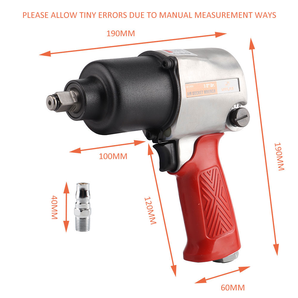1 Pneumatic Impact 680N 2 High Powered Torque Tools Air M Wrench Impact Socket Wrench Air Inch Spanner Drive