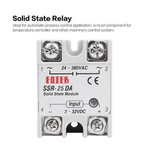 цена на Solid State Relay DC-AC 10A 25A 40A 60A 80A 100A 12V 3-32V DC TO 220V 24-380V AC Load Single Phase SSR for Temperature Control