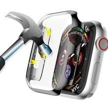 Чехол для Apple часы 5 4 3 2 1 случай 44mm часы iWatch 42 мм 38 мм 40 мм диапазон 5 бампер чехол протектор экрана ПК плакировкой водонепроницаемый
