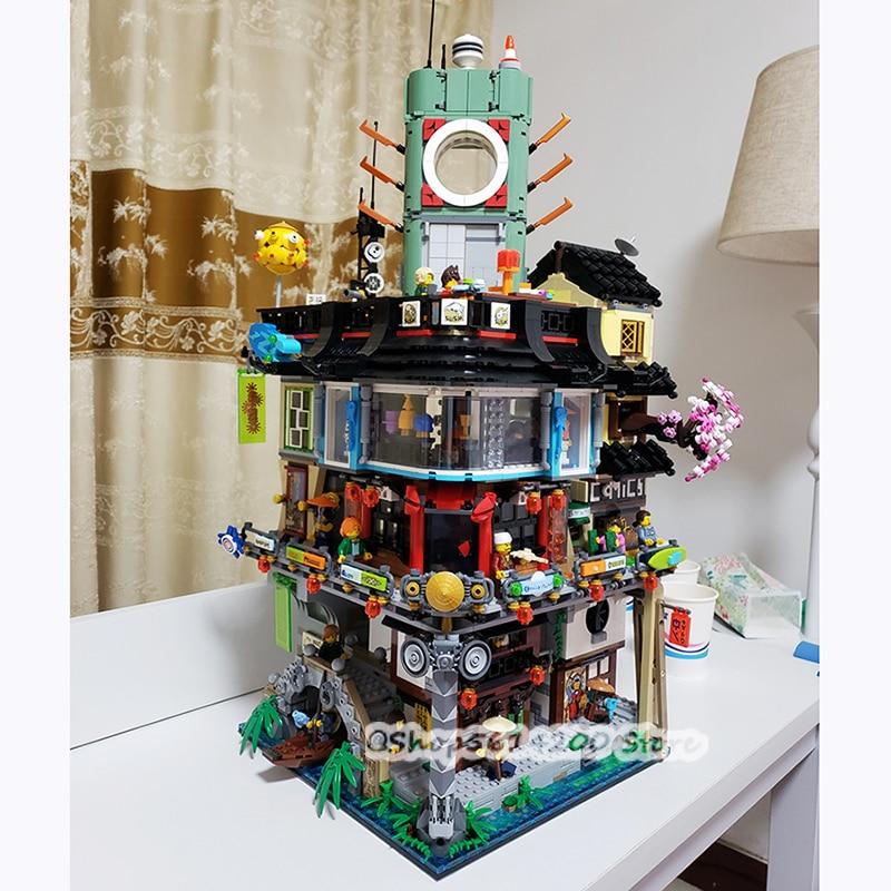 Spot 06066 Bricks Compatible With Lepining NINJAGOing City 70620 Children's Christmas Gift Building Blocks 4932pcs