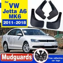 цена на Mudguards for Volkswagen VW Jetta A6 5C6 Mk6 6 2011~2018 Car Accessories Fender Mudflaps Guard Splash Flaps Mud 2015 2016 2017
