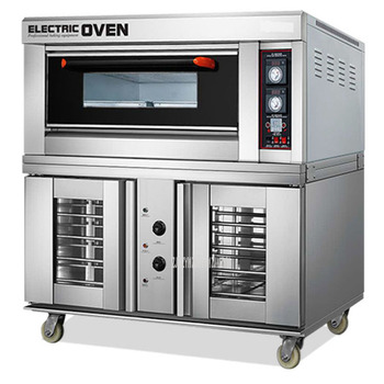 Commercial Electric Oven Baking and Proofing Fermentation Machine Pizza Bread Baking Machine 1 Layer 2 Tray Intelligent Oven commercial baking bakery machine widely use industrial electric conveyor belt type pizza oven