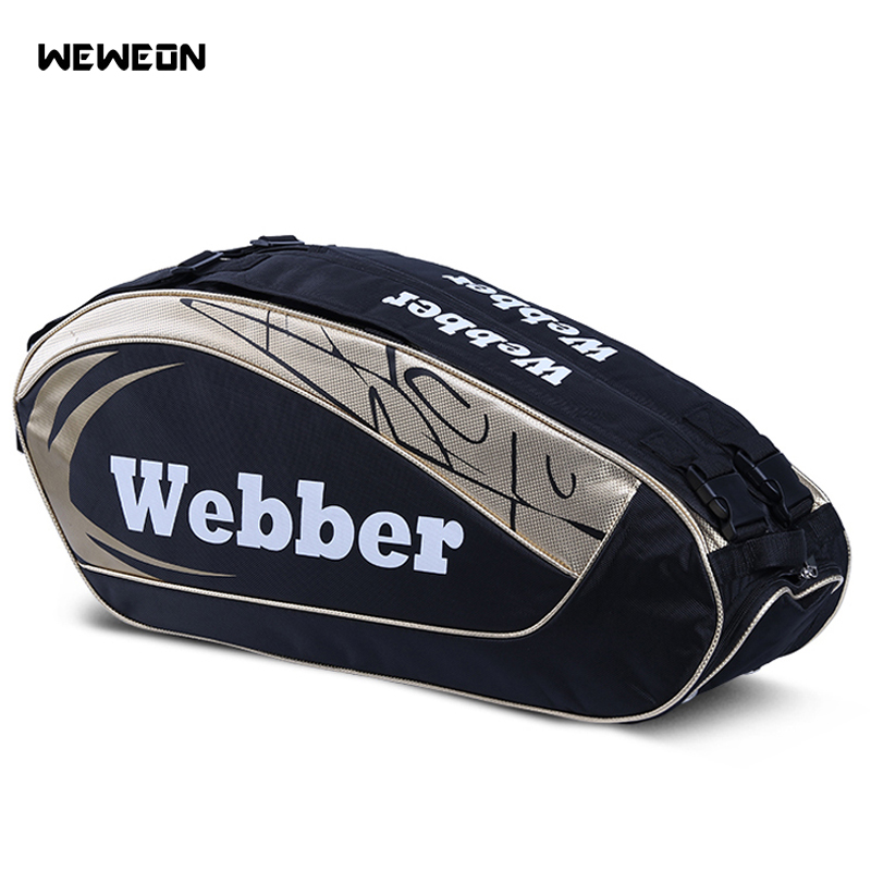 Large Designer Tennis Bag Backpack Athlete's Badminton Bag 2 Models For 8-12 Pcs Rackets Bags For Professional Sport Competition
