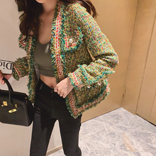 New High Quality Designer Women Tweed Jackets v neck 2020 Spring Autumn Women's