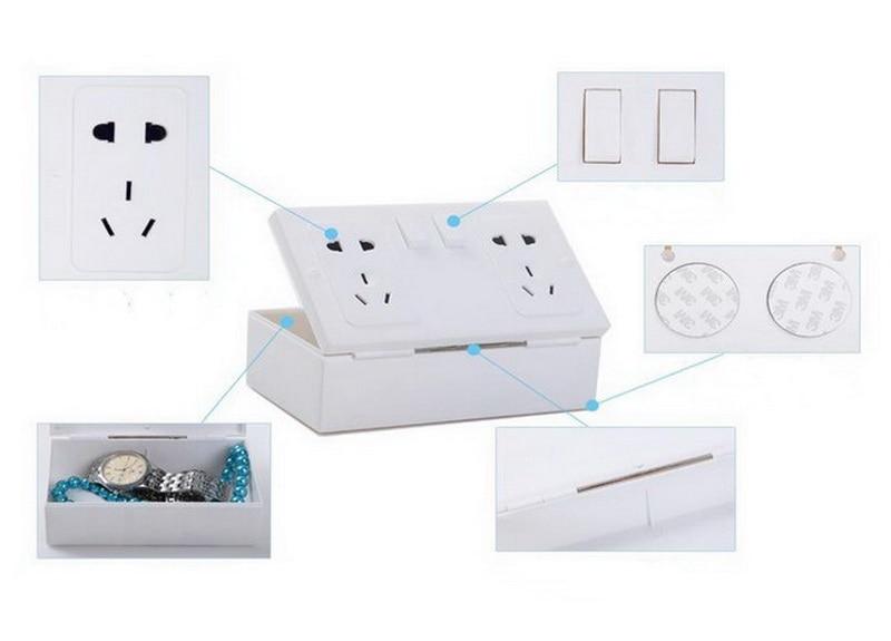 Cool New White Plastic Wall Socket Safe Secrets Valuables Hiding Storage Box
