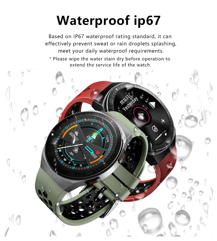 H9a54664a8f8e4f0e880740c1e2a1a6faj MT3 Smart Watch Men Women Music Play 8G Memory Bluetooth Call Heart Rate Fitness Health Tracker Sport Waterproof Smartwatch