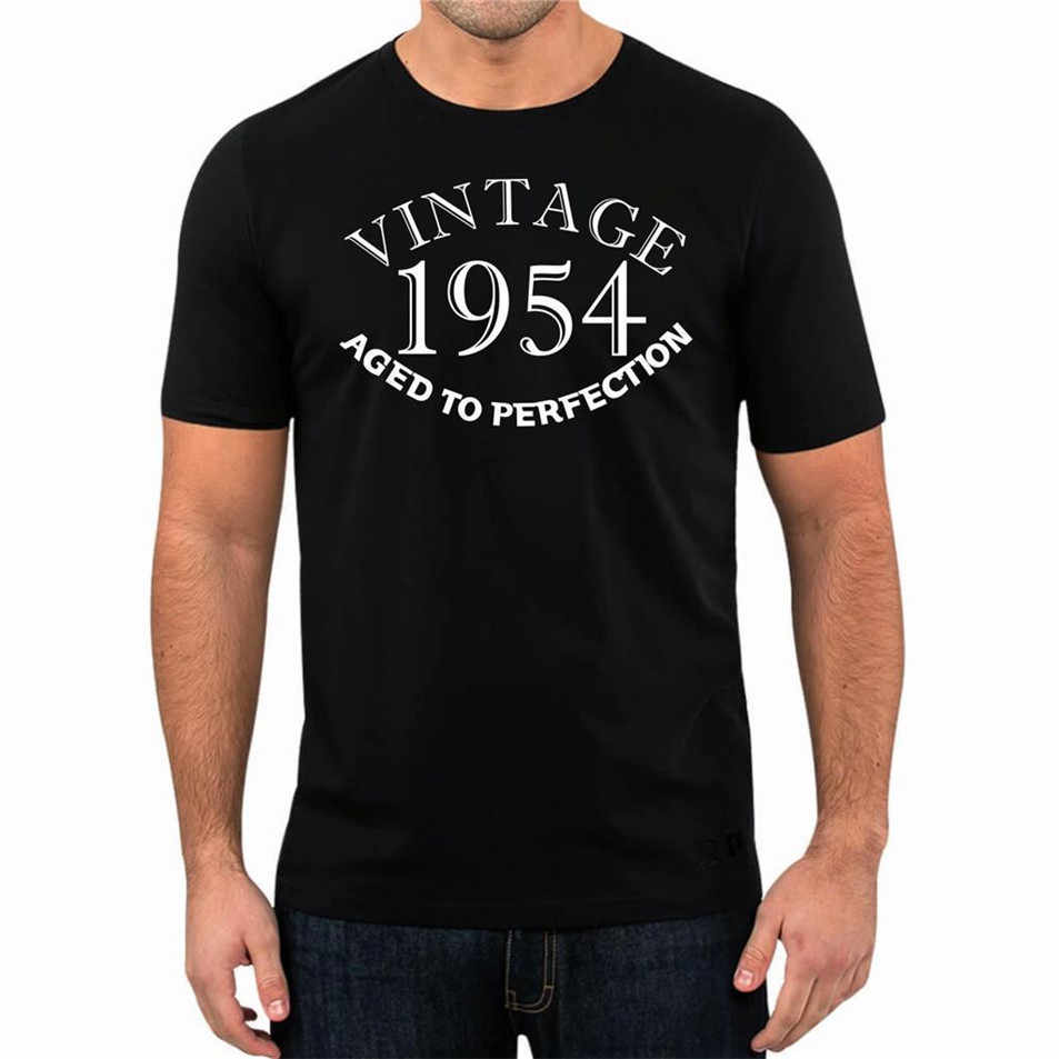 65th Birthday Present Gift Year 1954 Aged To Perfection T-Shirt Unisex Fun Top