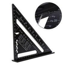 7 Cal trójkąt linijka stolarz kwadratowa prędkość kwadratowe narzędzie do projektowania narzędzie pomiarowe trójkąt kwadratowa linijka ze stopu aluminium