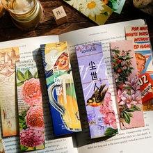 30 pces/1 lote retro coleção de imagem papel marcadores de favoritos para livros/compartilhamento/marcadores de livro/guia para livros/artigos de papelaria