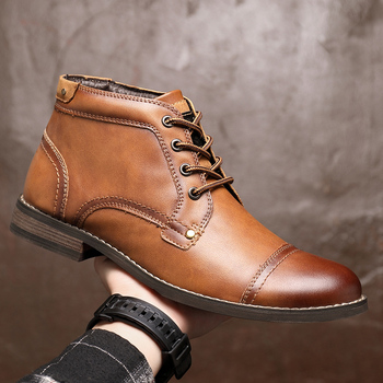 Genuine Leather Chelsea Boots Men Winter Motorcycle Ankle Boots Men High Quality Leather Shoes Outdoor Warm Walking Shoes 2020 high quality brand pointed toe chelsea boots genuine leather men ankle boots business office banquet fashion big size shoes