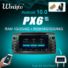 PX6 4G 64G 2 Din Android 10 Mobil Radio untuk Toyota Corolla E120 BYD F3 2din Stereo Receiver navigasi Audio Mobil Dvd Player Gps(China)