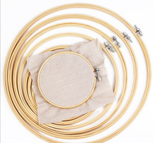 10pcs Wooden Frame Hoop Circle Embroidery Round Machine Bamboo For Cross Stitch Hand DIY Household Craft Sewing Needwork Tool
