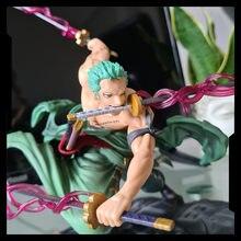 Katana 18Cm Anime Figuur Roronoa Zoro Vol.1 Pvc 1/8 Drie-Blade Sa-Maximale Ver. Action Collection Model Toy Met Doos