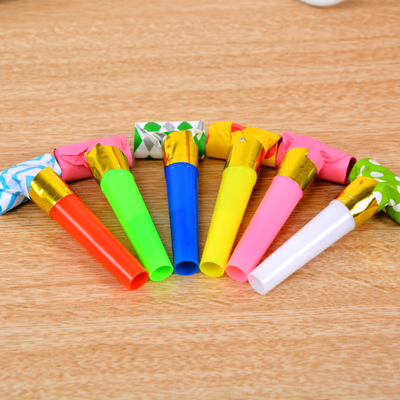 6pcs/set Colorful Dragon Blowing Children Dnd Adults Birthday Party Wedding Proposal Anniversary Party Supplies Wholesale