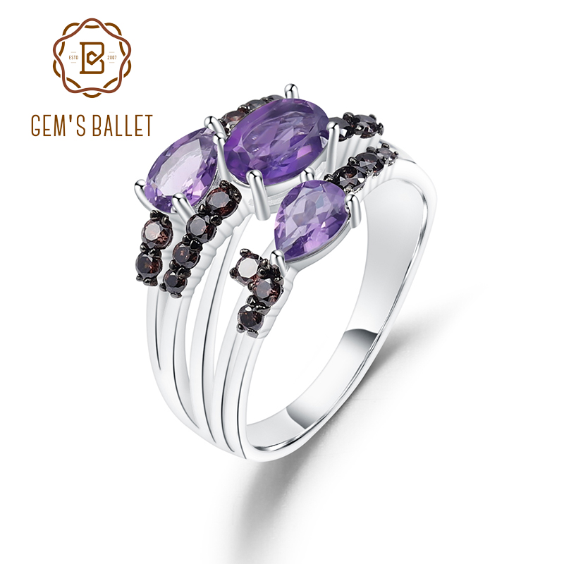 1 ct Natural Amethyst Eternity Band ring in sterling silver
