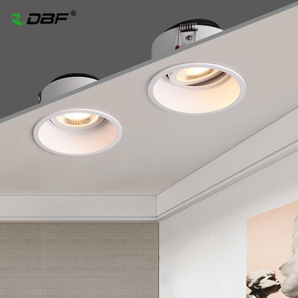 dbf luz embutida ajustavel sem moldura angulo 5w 7w 12w 15w regulavel brilho profundo fundo