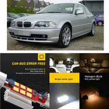 цена на LED Interior Car Lights For Bmw e46 3 Coupe car accessories glove box make-up mirror lighting error free