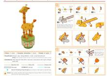 Press Toy Giraffe 3D Paper Model Toy Parent And Child DIY Kindergarten Activity Handmade Paper Folding(China)