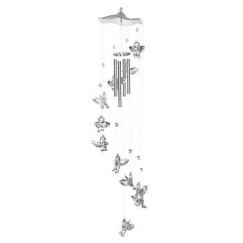 Twórczy antyczne dzwony wiatr kuranty drzwi wiszące wystrój domu srebrny tanie i dobre opinie CN (pochodzenie) MASKOTKA Z tworzywa sztucznego Nowoczesne