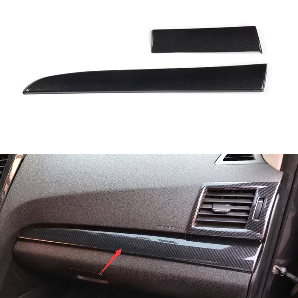 For Subaru Outback 2010 2011 2012 2013 2014 LHD Car Dashboard Decoration Strips Bezel Trim ABS Car Styling Moldings