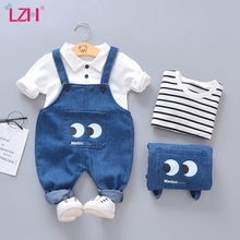 Newborn Baby Girls Boys Clothes 2020 Autumn Winter Baby Clothing Casual Strap Suit Outfit Infant Clothing Sets 6 9 12 24 Month