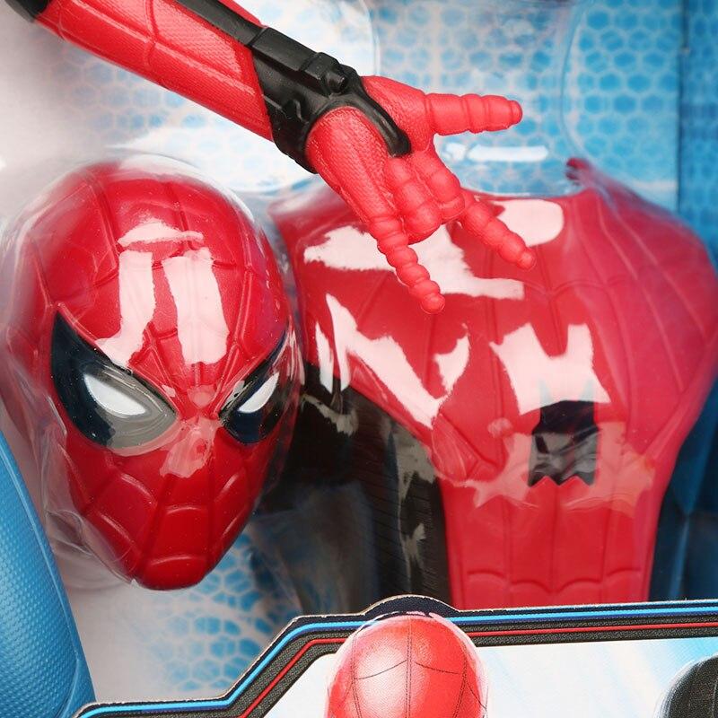 33cm Marvel zabawki elektroniczne Avengers Spider man daleko od domu pcv figurka 3 w 1Web biegów Spiderman kolekcjonerska Model lalki w Figurki i postaci od Zabawki i hobby na  Grupa 3