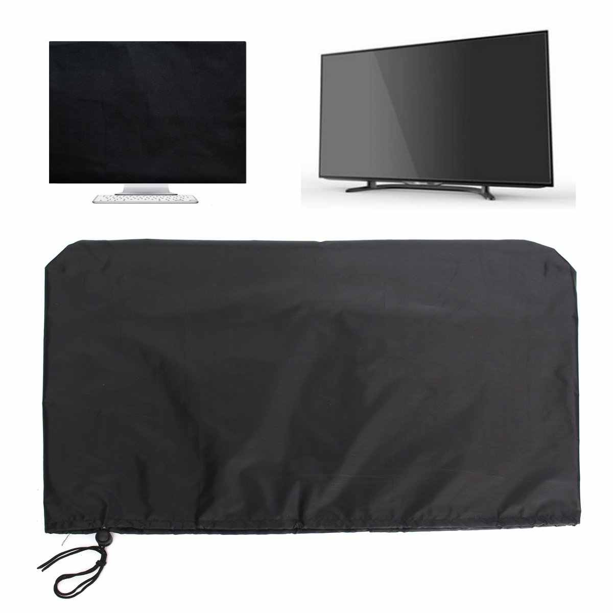 New 24 Inch Computers Flat Screen Monitor Dust Cover PC TV Fits Tablets Protectors Polyester Computer Covers Soft Lining 2 Color