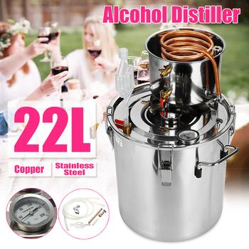 8 10 12 20 35L Distiller Moonshine alkohol ze stali nierdzewnej DIY zestaw do parzenia wody do wina w domu tanie i dobre opinie