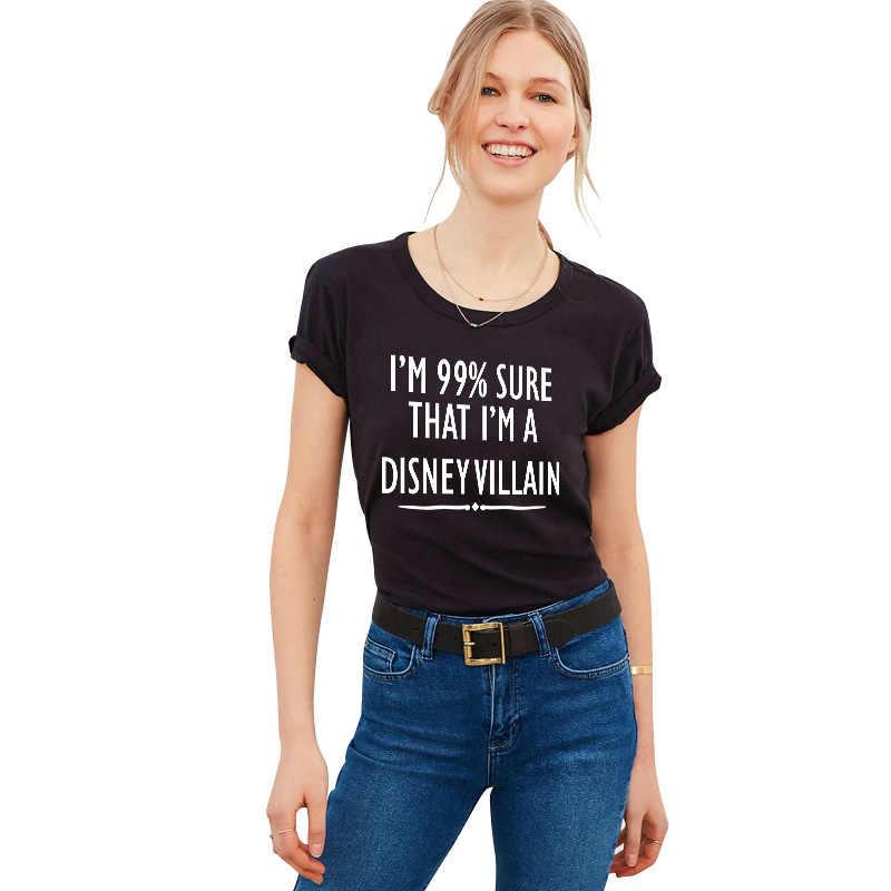IM 99% emin mektubu baskı T Shirt kadın kısa kollu O boyun gevşek gömlek 2020 yaz moda kadın Tee gömlek tops