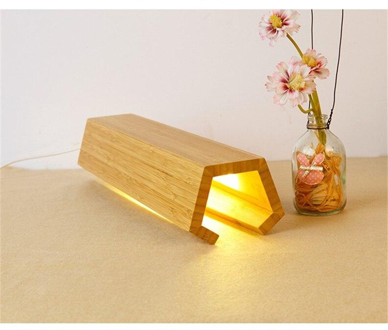 deco designer usb cabeceira cama lâmpada luz da noite luminária