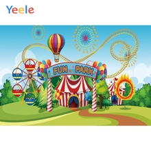 Yeele Baby Birthday Party Circus Balloons Fun Park Photography Backdrops Personalized Photographic Background For Photo Studio
