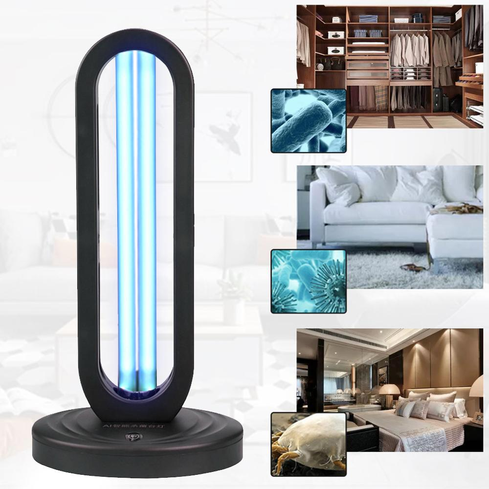 38W UV Disinfection Lamp UVC Germicidal Light Ozone Home Sterilizing Wardrobe Deodorizer Car Disinfect Virus Mite Lights