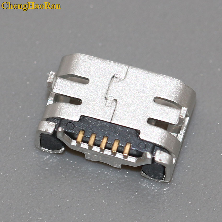 ChengHaoRan 50pcs 5pin for <font><b>Sony</b></font> D2004,<font><b>D2005</b></font>,D2104,D2105 <font><b>Xperia</b></font> <font><b>E1</b></font> DS,D2114 TV micro USB jack socket type-B Charge port Connector image